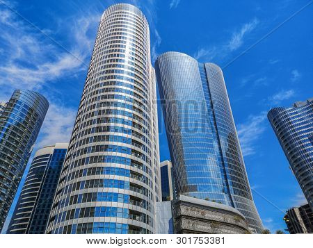 High Towers And Buildings - Shot Of Al Reem Island Famous Towers And Skyscrapers - Abu Dhabi, Uae, F