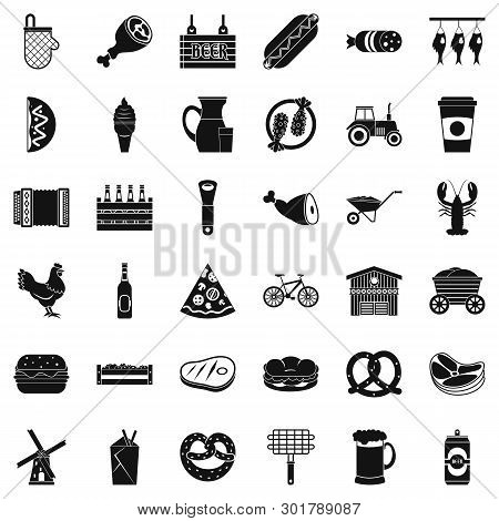Gastronome Icons Set. Simple Set Of 36 Gastronome Icons For Web Isolated On White Background