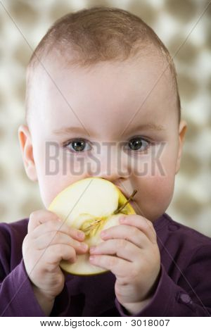 Cute Caucasian Baby Boy.