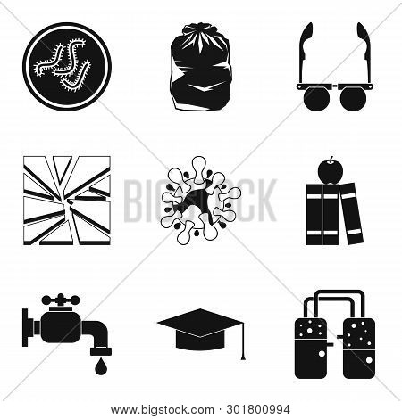 Medical Intervention Icons Set. Simple Set Of 9 Medical Intervention Icons For Web Isolated On White