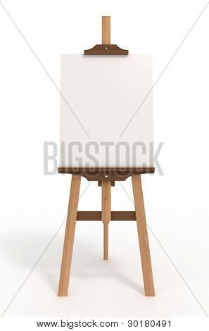 Blank Art Board, Easel