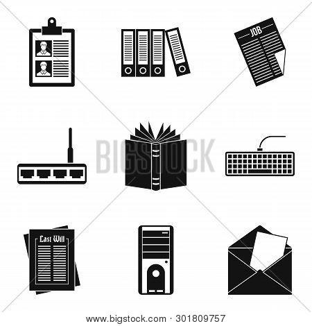Bureaucrat Icons Set. Simple Set Of 9 Bureaucrat Icons For Web Isolated On White Background