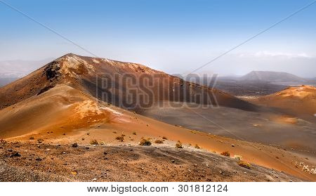 Mountains Of Fire,timanfaya On Lanzarote, Canary Islands, Spain