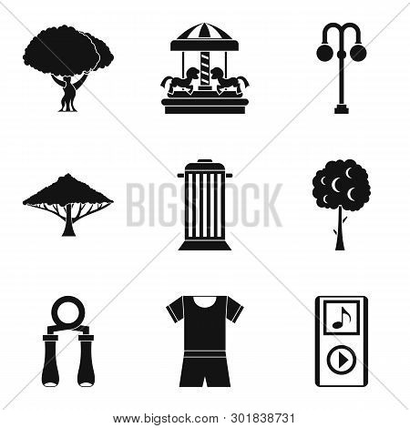 Parkland Icons Set. Simple Set Of 9 Parkland Icons For Web Isolated On White Background