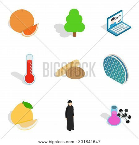 Parkland Leisure Icons Set. Isometric Set Of 9 Parkland Leisure Icons For Web Isolated On White Back