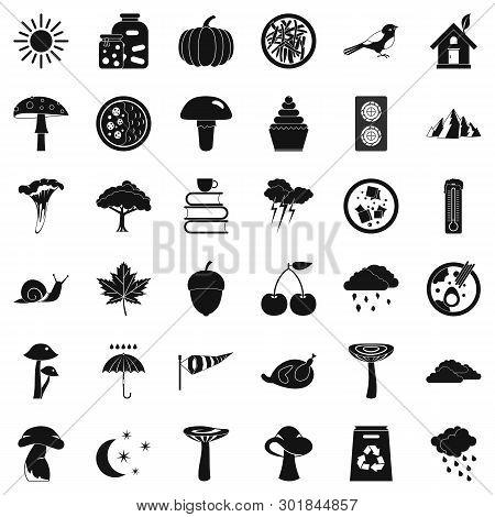 Afforestation Icons Set. Simple Set Of 36 Afforestation Icons For Web Isolated On White Background