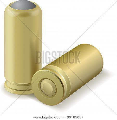 Vector illustration of pair bullets