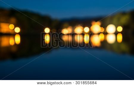 De Focused, Blurred Image, Light Bokeh View