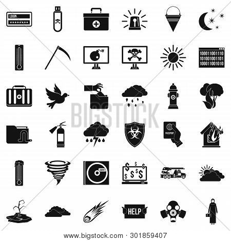Natural Task Icons Set. Simple Set Of 36 Natural Task Icons For Web Isolated On White Background