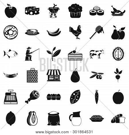 Verdant Icons Set. Simple Set Of 36 Verdant Icons For Web Isolated On White Background