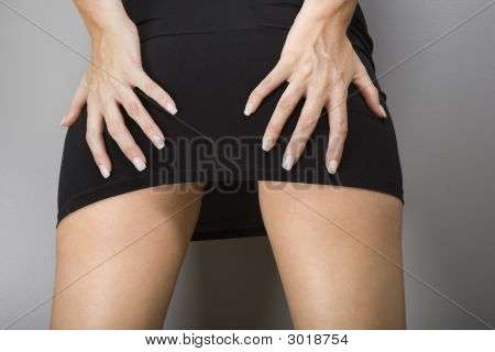 Female Hands On Buttocks.