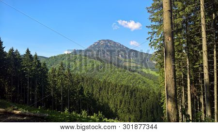Velky Choc With A Height Of 1611m Represents A Unique Peak Above Ruzomberok In Slovakia