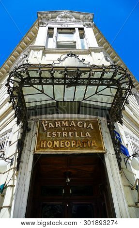Buenos Aires, Argentina - August 11, 2016: Farmacia De La Estrella, The Oldest Pharmacy In Buenos Ai