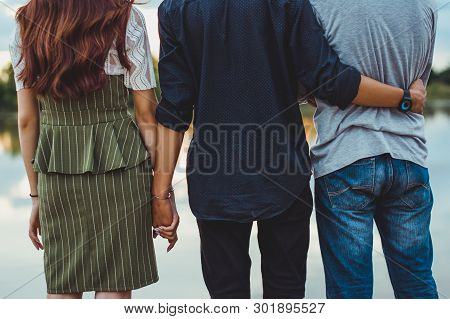 Love The Triangle Of One Woman. Two Boys. I Have A Secret Love. That Others Do Not Know That Adulter