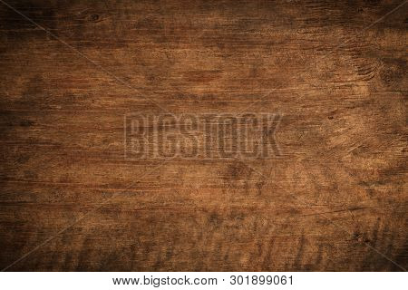 Old Grunge Dark Textured Wooden Background,the Surface Of The Old Brown Wood Texture,top View Brown