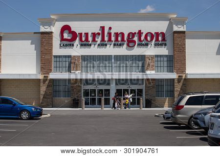 Whitestown - Circa May 2019: Burlington Coat Factory Location. Burlington Is An American National Of