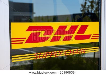 Whitestown - Circa May 2019: Dhl Supply Chain Location. Dhl Is Rolling Out A New Fleet Of 63 Electri