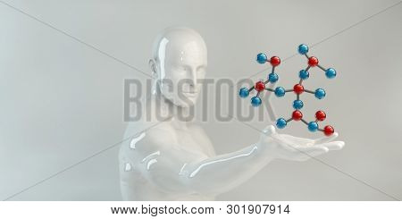 Abstract Clean Science or Medical Background Presentation Concept 3D Render