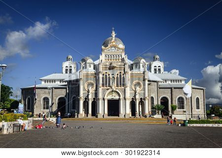 Cartago, Costa Rica - November 22, 2014: Basilica Nuestra Senora de Los Angeles in Cartago, Costa Rica is the most popular pilgrimage site in the country