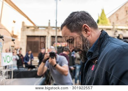 Caceres, Extremadura, Spain - May  18, 2019: The Leader Of The Far-right Vox Party, Santiago Abascal