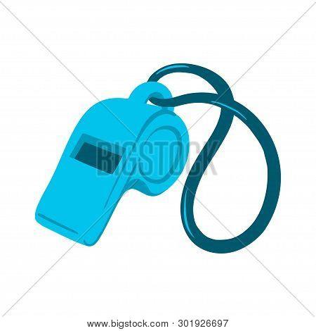 Hand Drawn Vector Whistle Icon For Logo, Banner, Poster, Sport Event Invitation Or Promo Illustratio