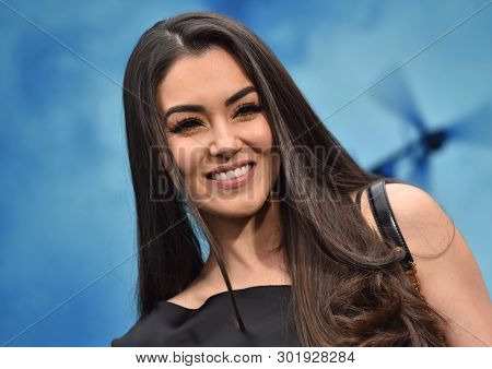 LOS ANGELES - MAY 18:  Cheli Madrid arrives for the 'Godzilla: King of the Monstersl' Hollywood Premiere on May 18, 2019 in Hollywood, CA