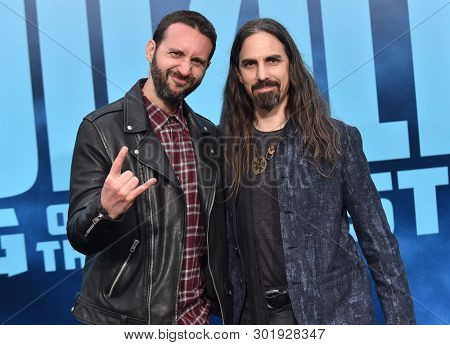 LOS ANGELES - MAY 18:  Jason LaRocca and Bear McCreary arrives for the 'Godzilla: King of the Monstersl' Hollywood Premiere on May 18, 2019 in Hollywood, CA