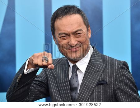 LOS ANGELES - MAY 18:  Ken Watanabe arrives for the 'Godzilla: King of the Monstersl' Hollywood Premiere on May 18, 2019 in Hollywood, CA