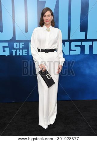 LOS ANGELES - MAY 18:  Vera Farmiga arrives for the 'Godzilla: King of the Monstersl' Hollywood Premiere on May 18, 2019 in Hollywood, CA