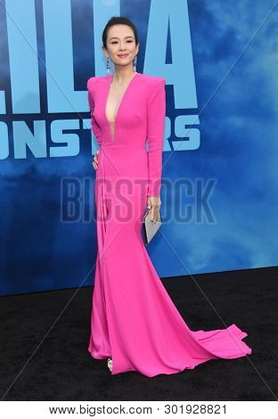 LOS ANGELES - MAY 18:  Zhang Ziyi arrives for the 'Godzilla: King of the Monstersl' Hollywood Premiere on May 18, 2019 in Hollywood, CA