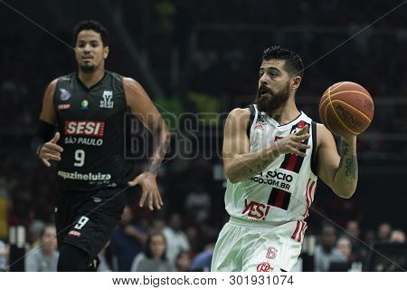 Rio, Brazil - May 19, 2019: Balbi Players During Flamengo Vs. Franca For The First Play-off Of The F