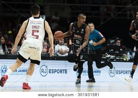 Rio, Brazil - May 19, 2019: Jimmy Players During Flamengo Vs. Franca For The First Play-off Of The F