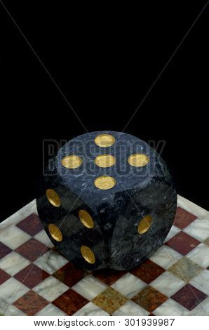 Gambling Against Top - Dice On Chessboard