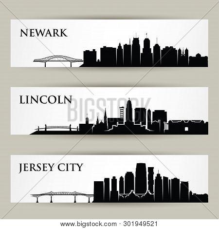 United States Of America Cities Skylines - Usa, Newark New Jersey, Lincoln Nebraska, Jersey City - I