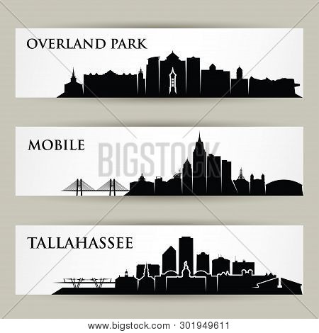 United States Of America Cities Skylines - Usa, Overland Park, Kansas, Tallahassee, Florida, Mobile,