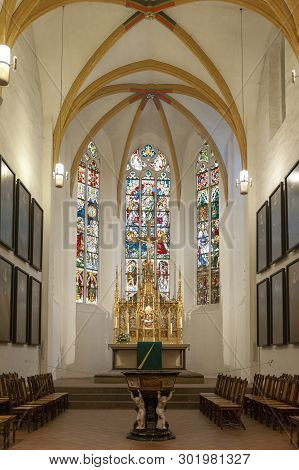 Leipzig, Germany - October 2018: Interior Of St Thomas Church (thomaskirche), A Lutheran Church In L