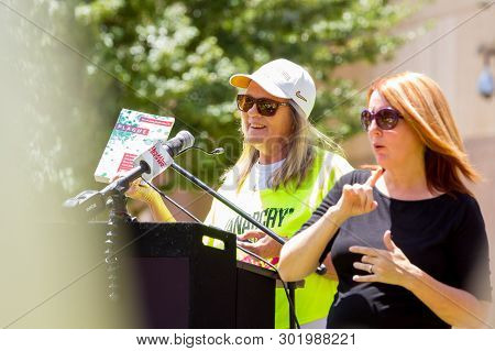Phoenix, Arizona - May 18: Judy Mikovits Phd Holds Up A Copy Of Her First Book