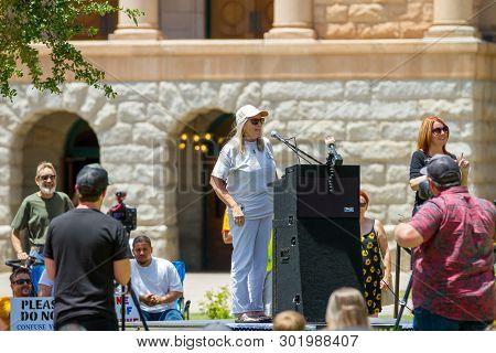 Phoenix, Arizona- May 18: Judy Mikovits Phd Speaks At The Arizona March For Medical Freedom Rally At