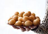Luqaimat - traditional sweet dumplings of UAE. Sweet Ramadan dumplings. poster
