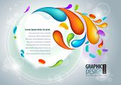 Abstract vector presentation template. EPS10 poster