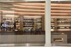 New York, Ny - Apr 14: Aesop Store At Oculus Of The Westfield World Trade Center Transportation Hub