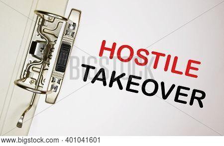 Stack Of White Office Binders Hostile Takeover