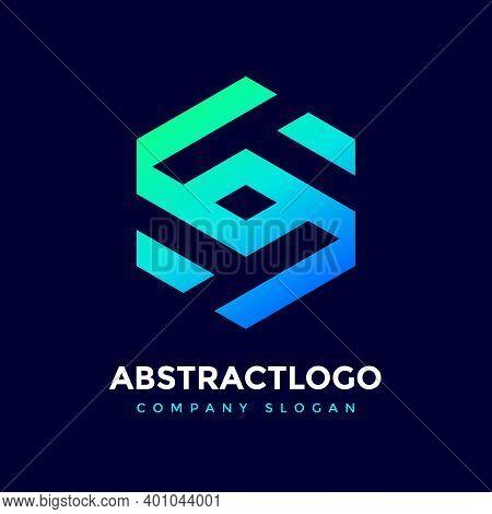Negative Space Tt Letter Logo Icon Polygon Shape.