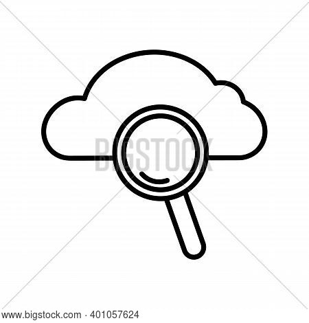 Cloud Storage Icon. Pictogram For Backup. Isolated On White Background.