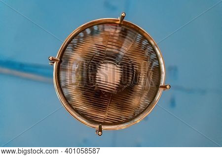 Close-up Of A Modern Outdoor Urban Lamp