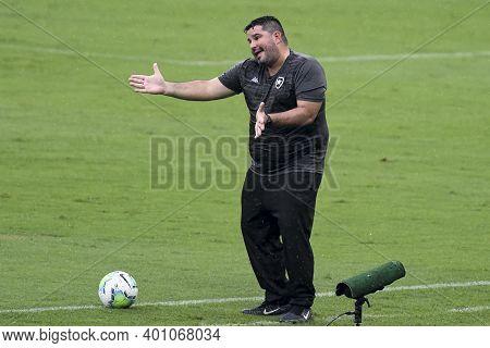 Rio, Brazil - December 27, 2020: Eduardo Barroca Coach In Match Between Botafogo And Corinthians By