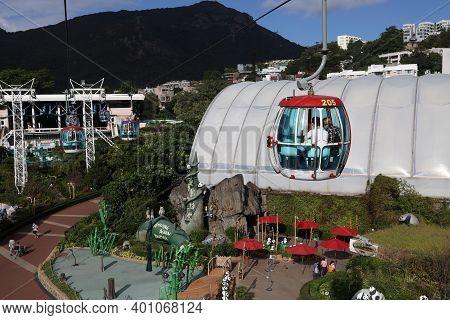 Cable Car At Ocean Park Hong Kong. Holiday, Cage. 18 Nov 2020