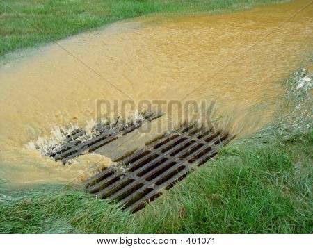Flooded Storm Sewer