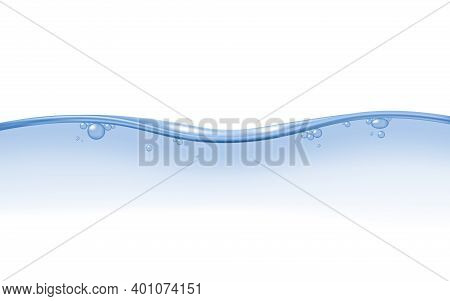 Water Surface Edge With Fading Effect, Realistic Vector Illustration Isolated.