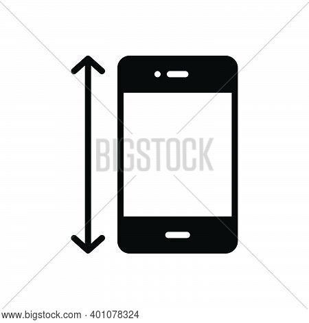 Black Solid Icon For Size Dimensions Measurement Shape Figure Screen Phone Gadget Electronic